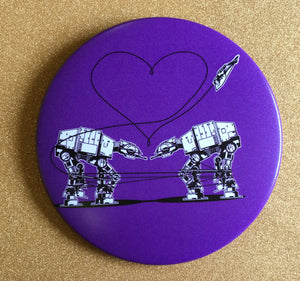 Magnet - 3.5 Inch: Love AT-AT First Sight - Purple