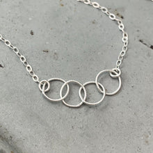 Load image into Gallery viewer, Quattro Bracelet - handmade interlocking four circle chain bracelet - Foamy Wader