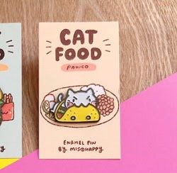 Enamel Pin - Cat Food - Taco