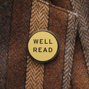 Enamel Pin - Well Read