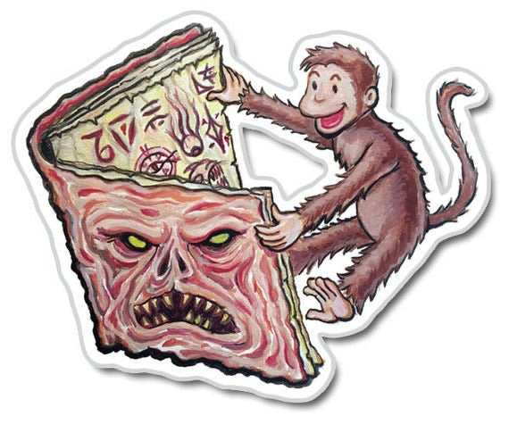 Sticker - Monkey and the Necronomicon