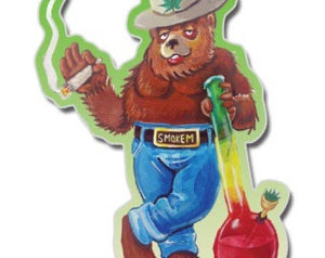 Sticker - Smoked Out Bear