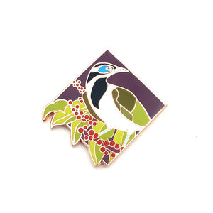 Enamel Pin - Blue-Faced Honeyeater Pin
