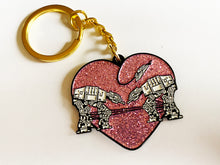 Load image into Gallery viewer, Keychain: Love AT-AT First Sight - Pink Glitter