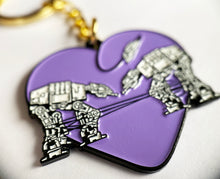 Load image into Gallery viewer, Keychain: Love AT-AT First Sight - Purple