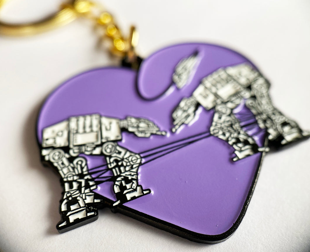 Keychain: Love AT-AT First Sight - Purple