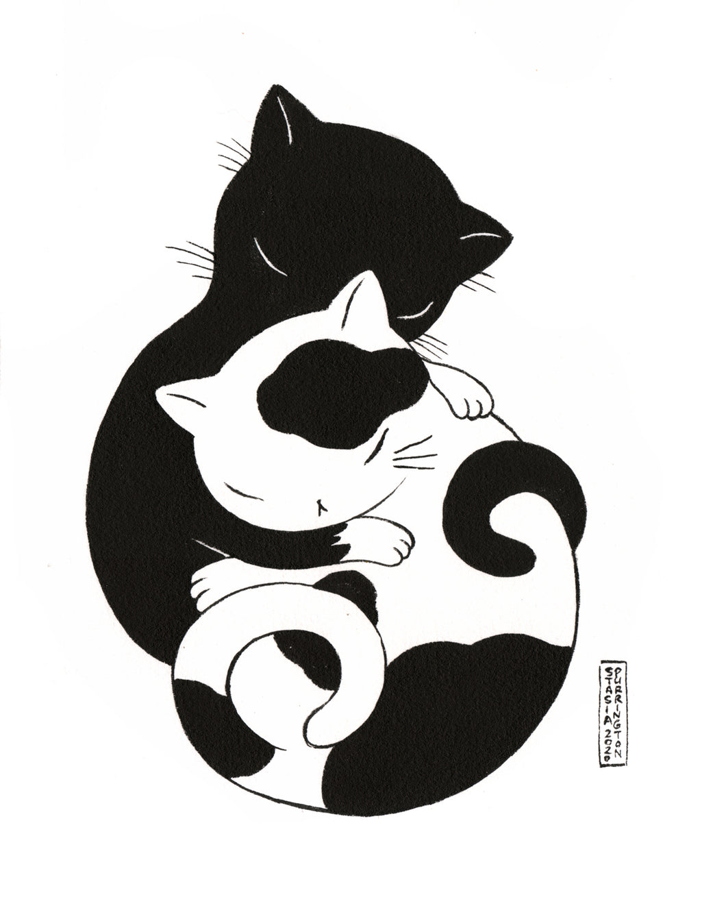 Original Art: Cat Cuddle