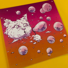 Load image into Gallery viewer, 4x4 Sticker - Bubble Cat - Sunset