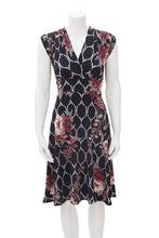 Load image into Gallery viewer, Veronica Lake Dress - Black Floral Lattice