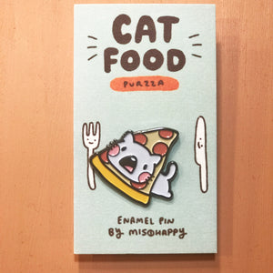 Enamel Pin: Cat Food - Pizza - Pin