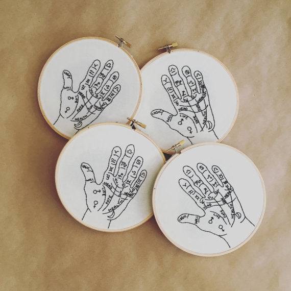 DIY Craft Kit - Embroidery - Palm Reader