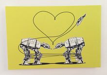 Load image into Gallery viewer, Postcard: Love AT-AT First Sight - Yellow - Ten Pack