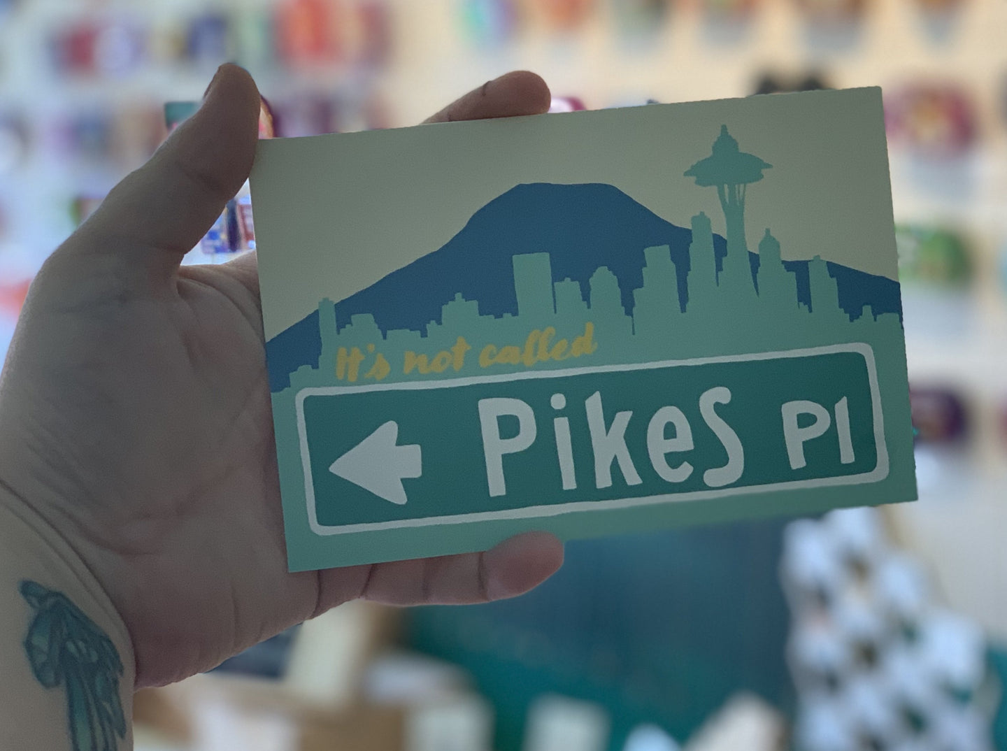 Postcard: It's Not Called Pikes Place Market - Street Sign - Ten Pack