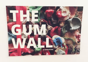 Postcard: The Gum Wall Is Disgusting - Ten Pack