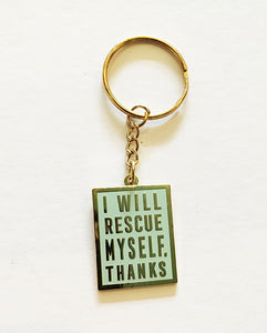 Keychain: I Will Rescue Myself, Thanks - Mint