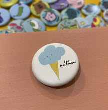 "Load image into Gallery viewer, 1.25"" Button - Sad Ice Cream (Three Pack)"