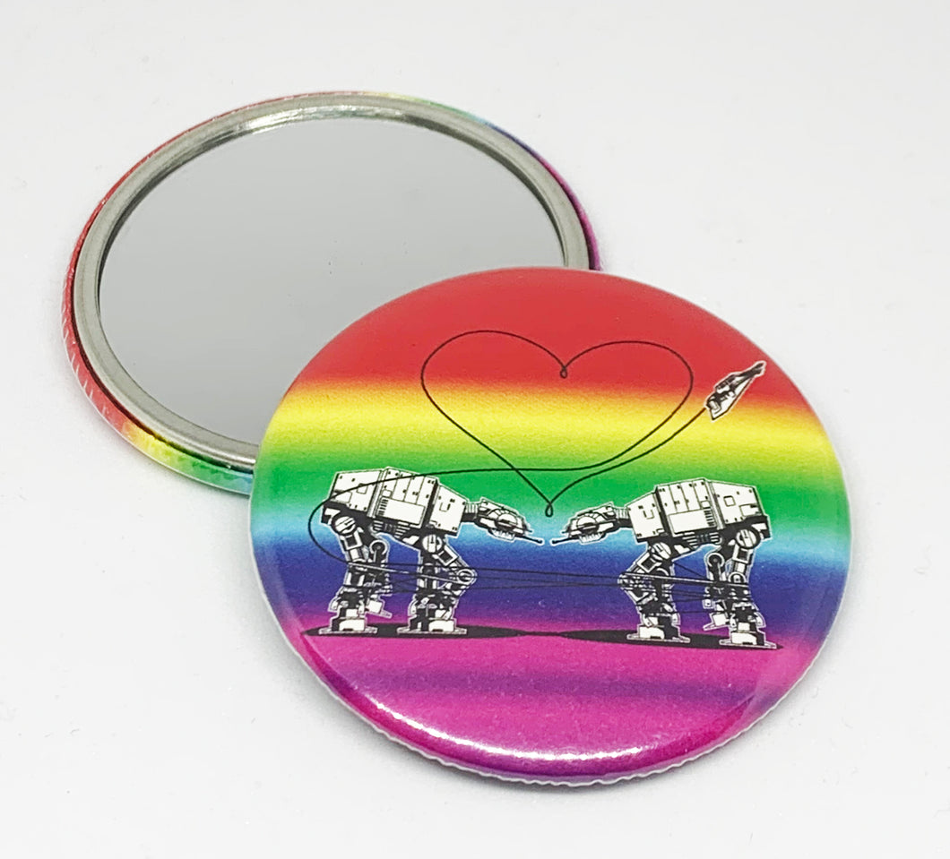 Small Mirror - Love AT-AT First Sight - Rainbow