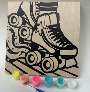 DIY Craft Kit: Wood Canvas DIY Painting - Roller Skate