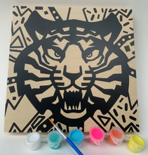 Load image into Gallery viewer, DIY Craft Kit: Wood Canvas DIY Painting - Tiger