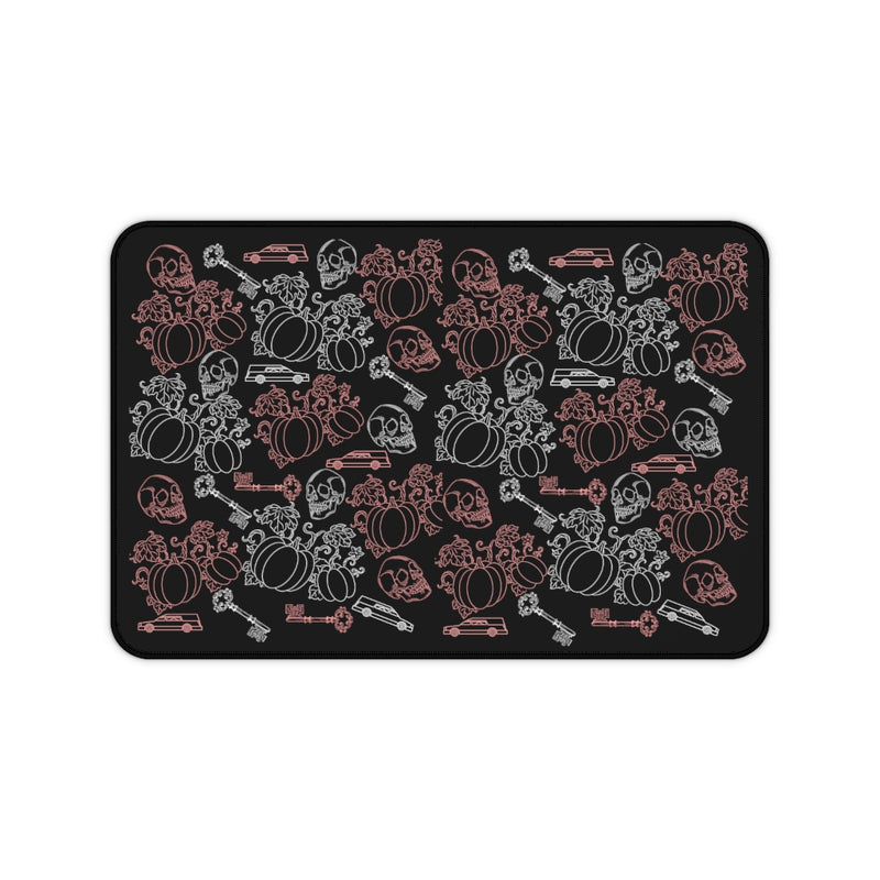 Skulls, Hearses & Pumpkins Desk Mat