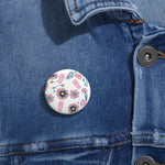 Coffin & Flowers Custom Pin Buttons