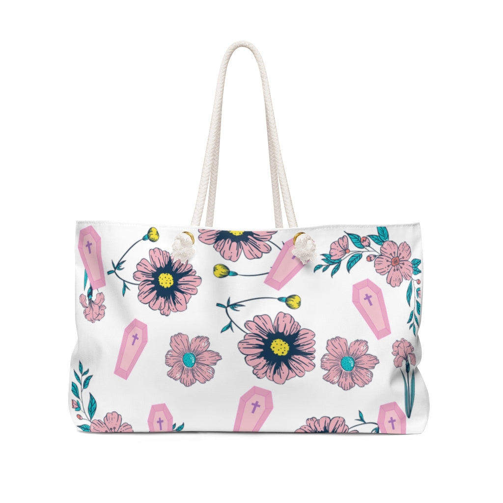 Coffins & Flowers Weekender Bag