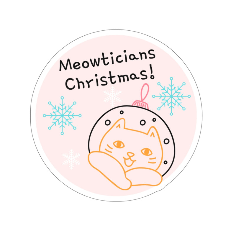 Meowticians Christmas Stickers
