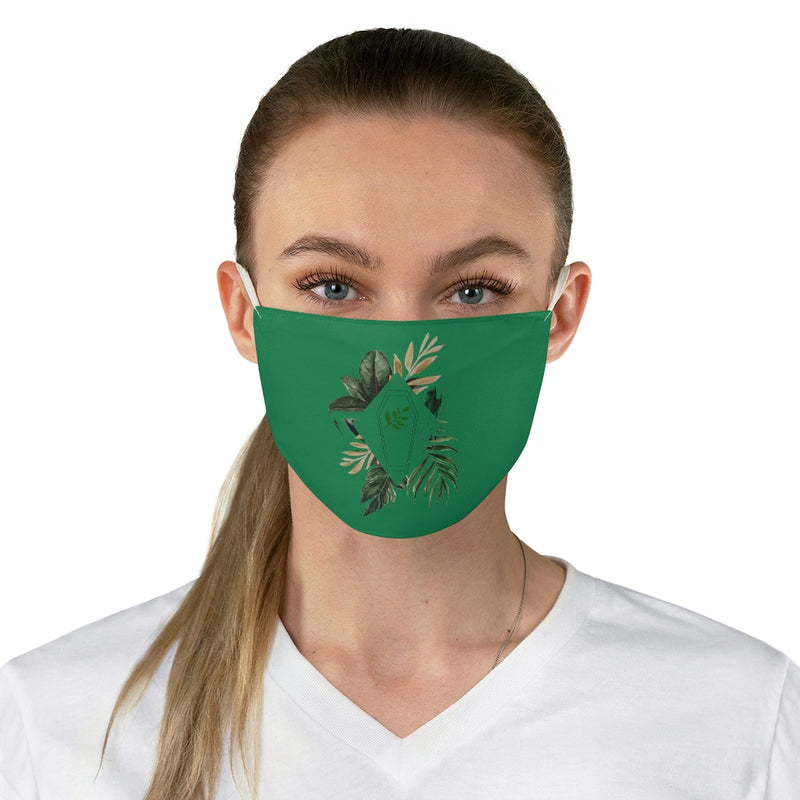 Green Burial Fabric Face Mask
