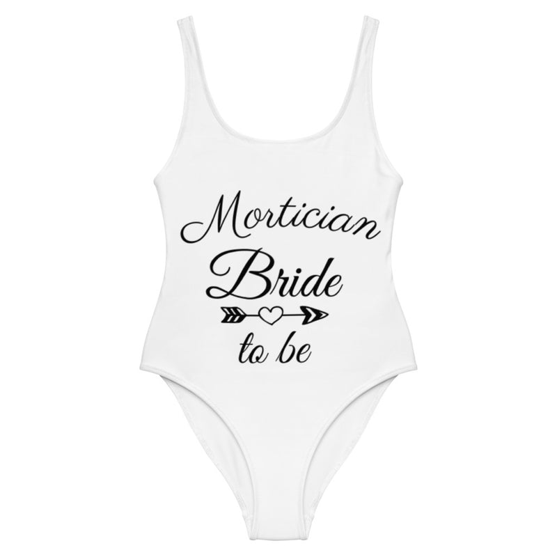 Mortician Bride to Be One-Piece Swimsuit