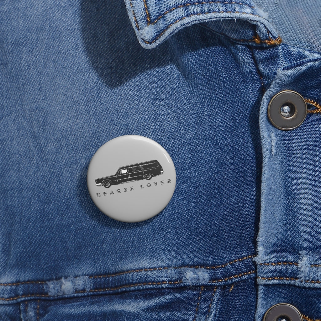 Hearse Lover Custom Pin Buttons