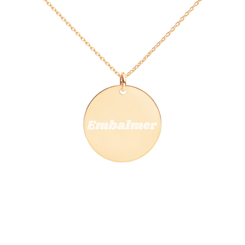 Embalmer Engraved Disc Necklace