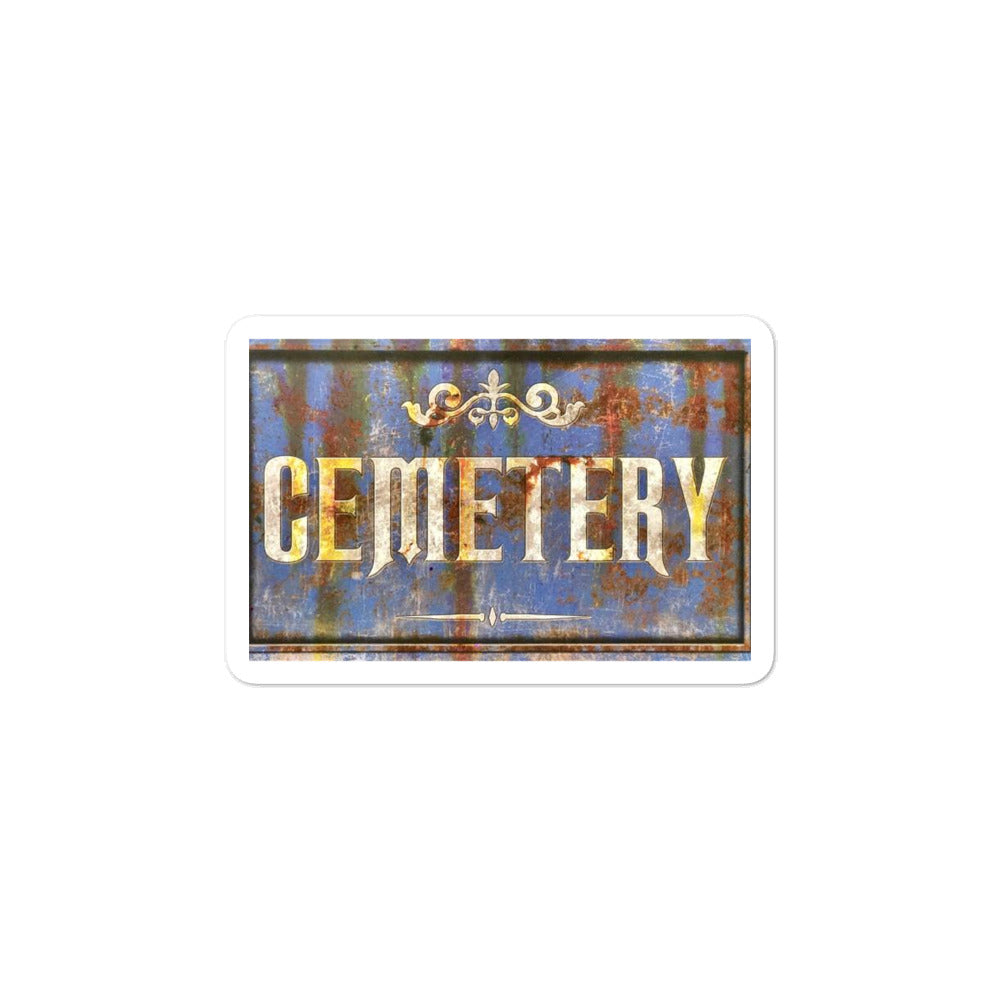 Cemetery stickers