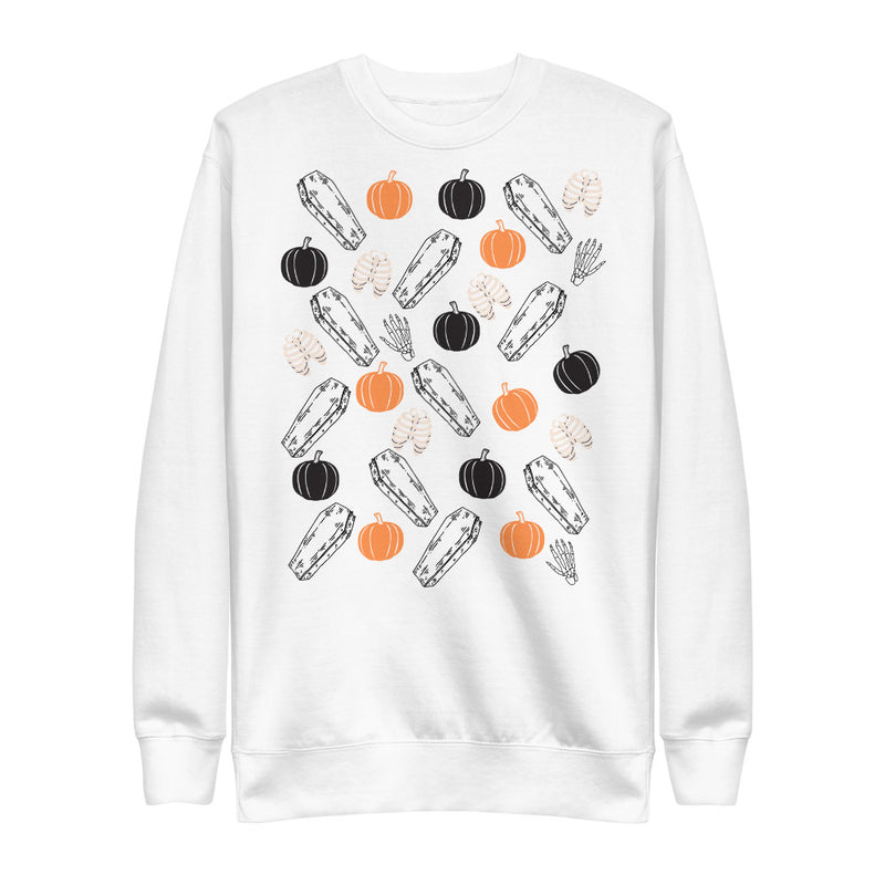 Coffins & Pumpkins Unisex Fleece Pullover