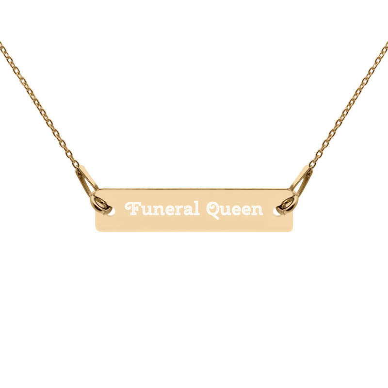 Funeral Queen Engraved Necklace