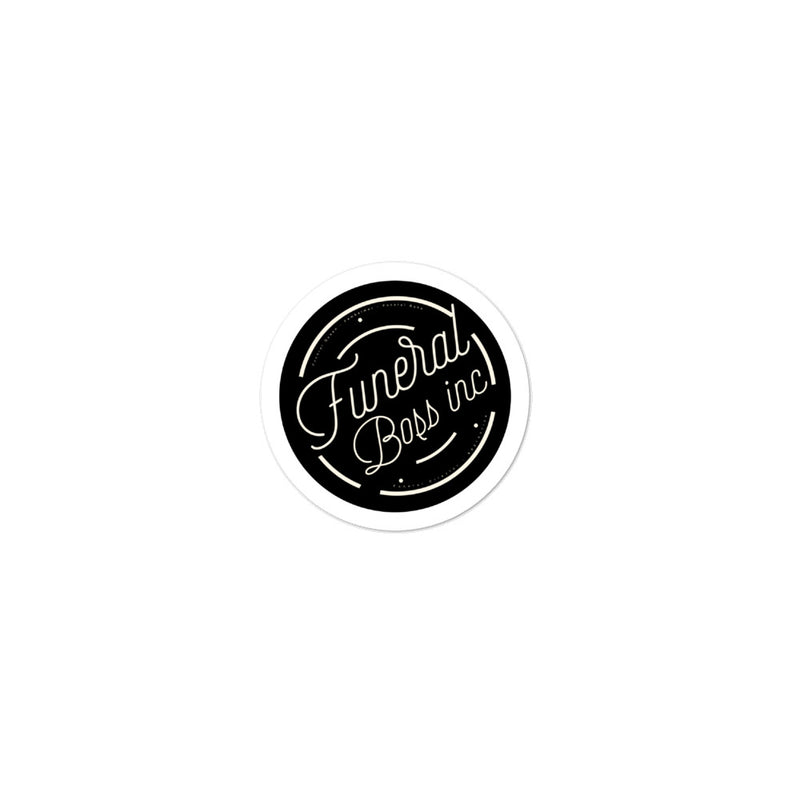 Funeral Boss Inc. Logo (Matte Black) Bubble-free stickers
