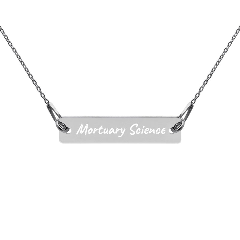 Mortuary Science Engraved Necklace