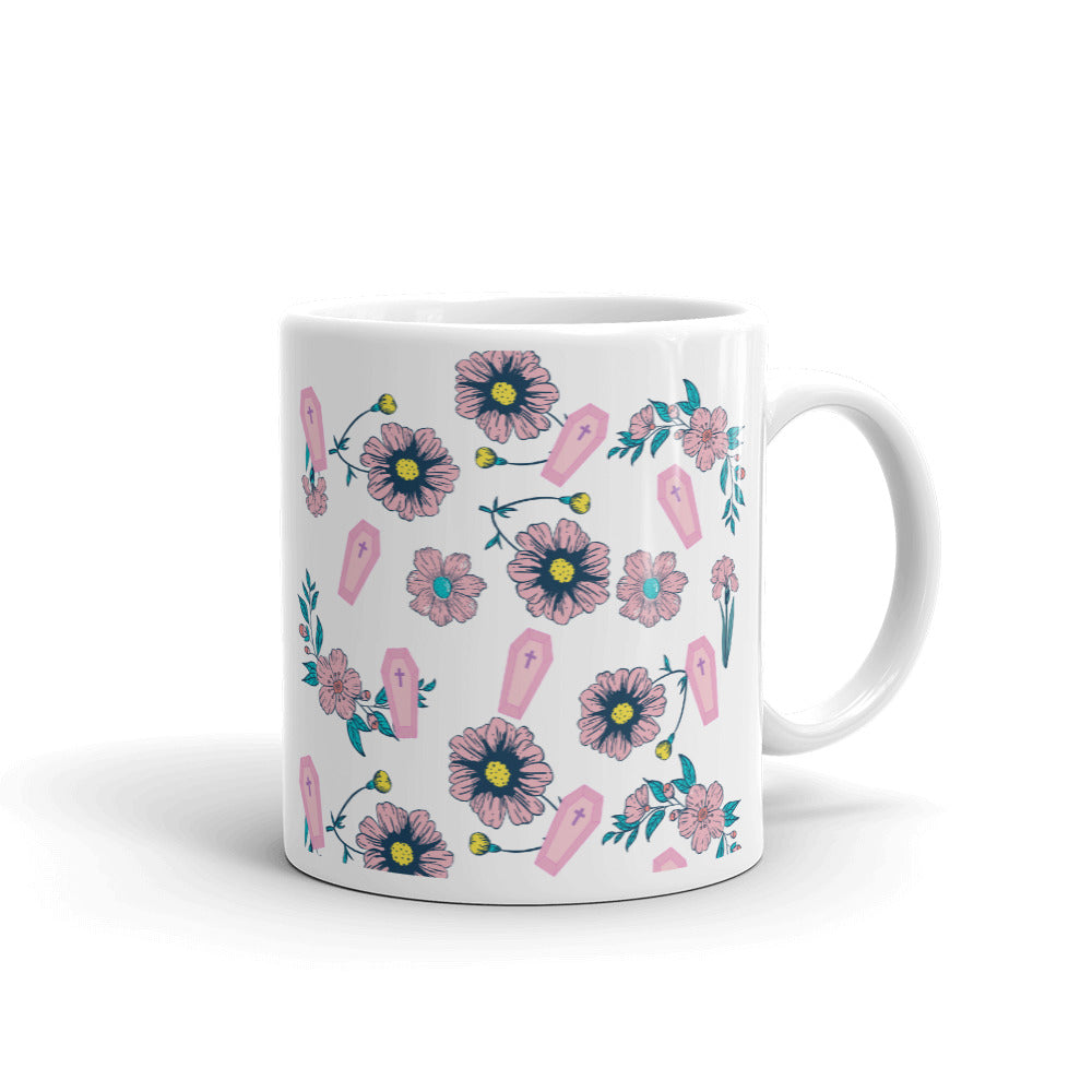 Coffin & Flowers Mug