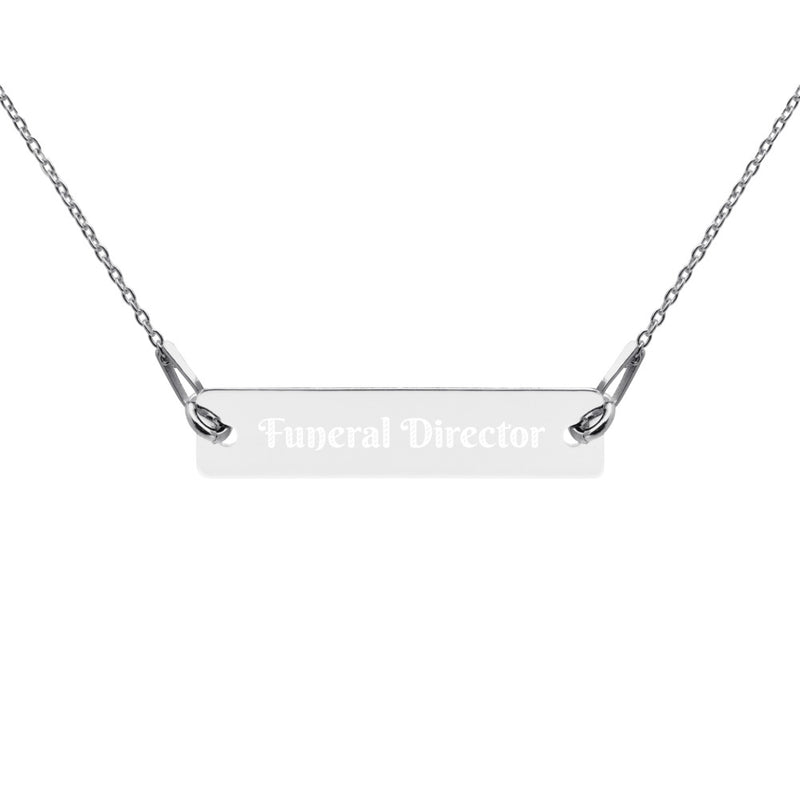 Funeral Director Engraved Necklace