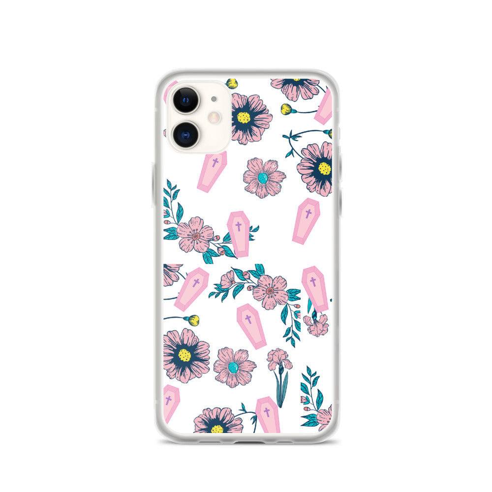 Coffins & Flowers iPhone Case