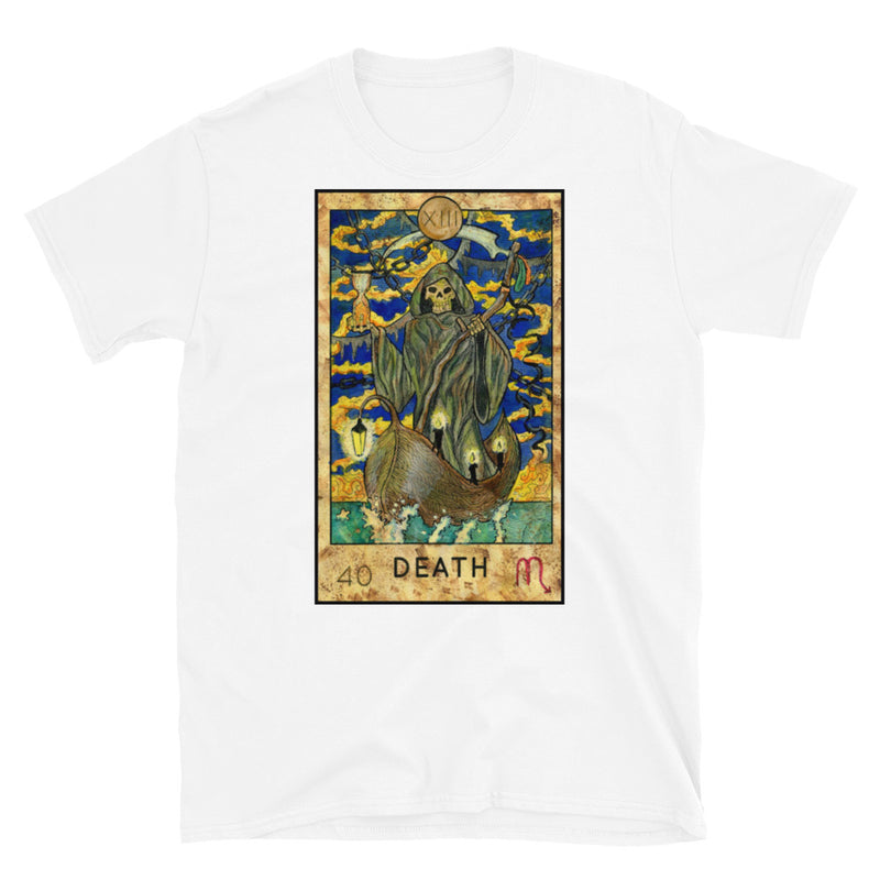 Death Card Short-Sleeve Unisex T-Shirt