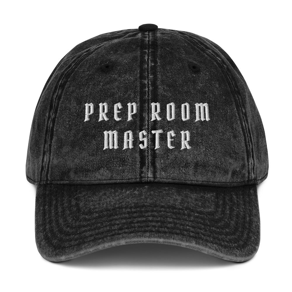 Prep Room Master Vintage Cotton Twill Cap