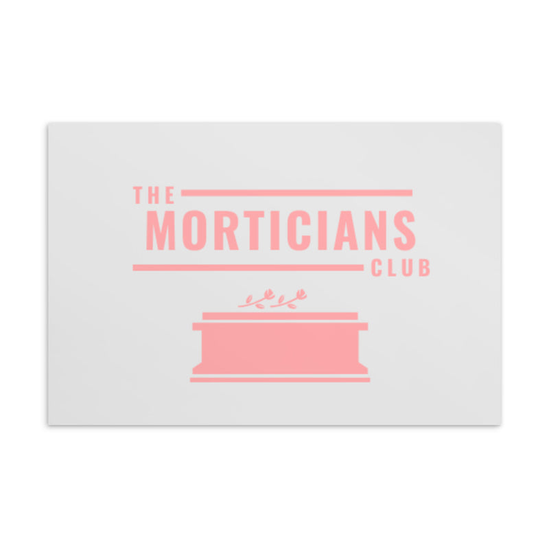 The Morticians Club Standard Postcard