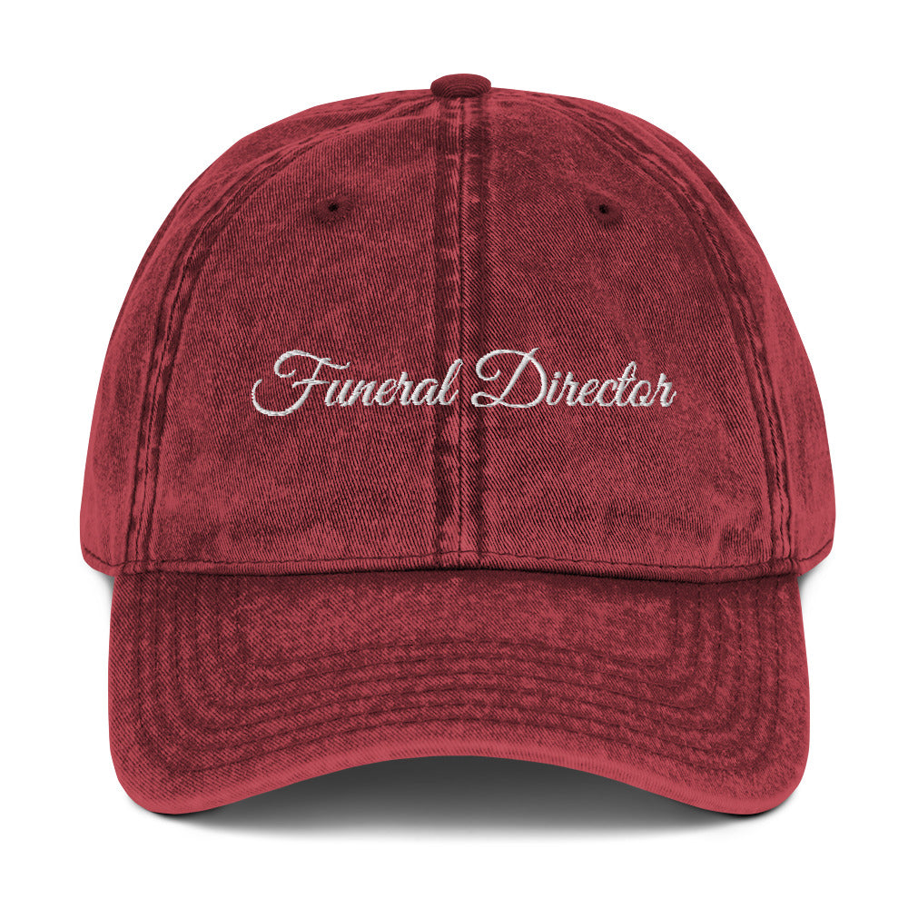 Funeral Director Vintage Cotton Twill Cap