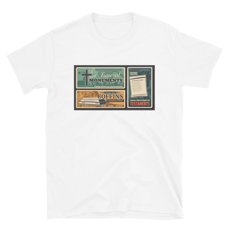 Old School Funeral Ad T-Shirt