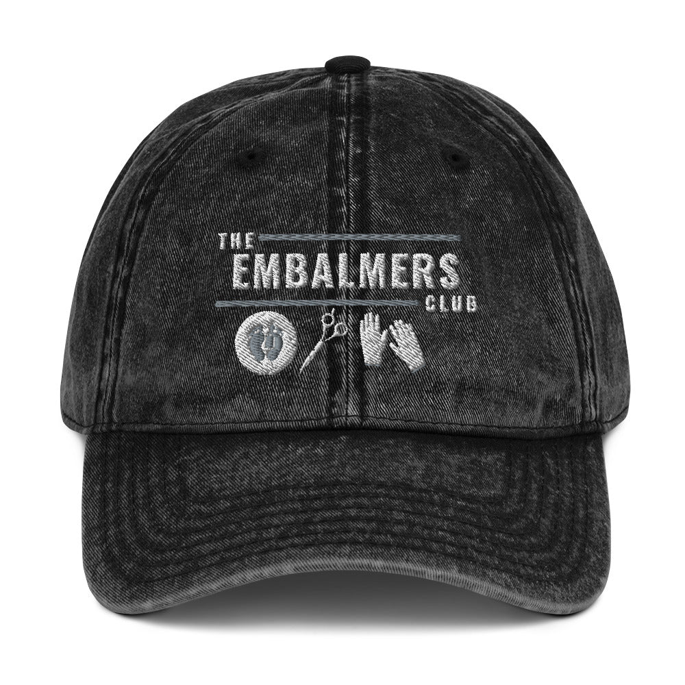The Embalmers Club Vintage Cotton Twill Cap
