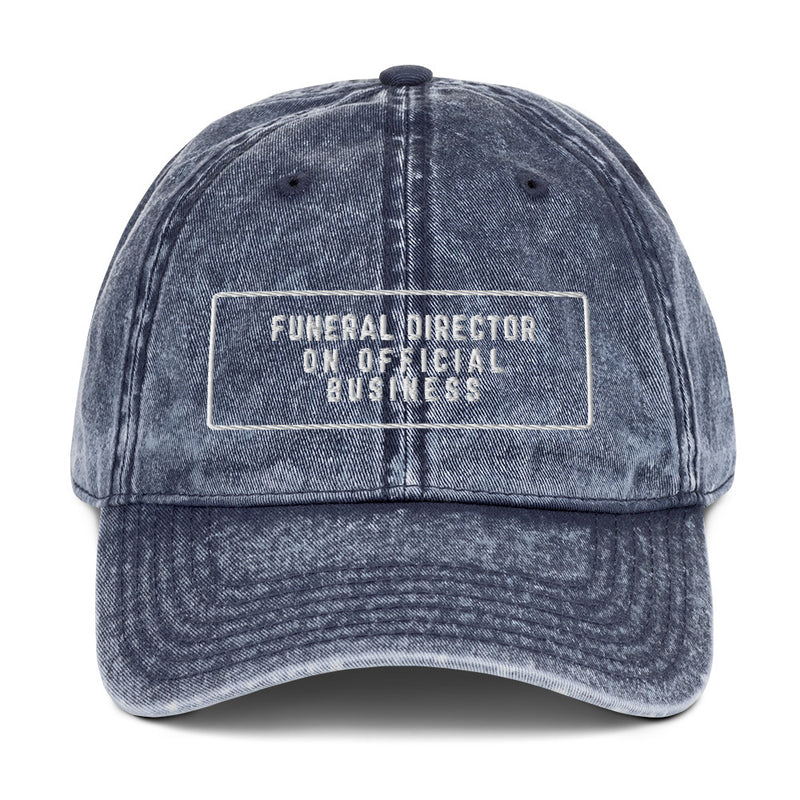 Funeral Director on Official Business Vintage Cotton Twill Cap