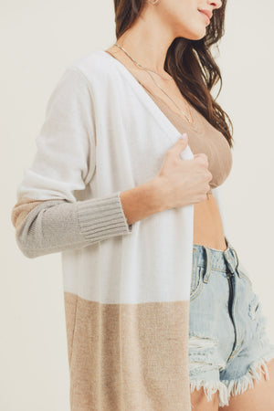 Capri Color Block Cardigan - NIVE GIRL