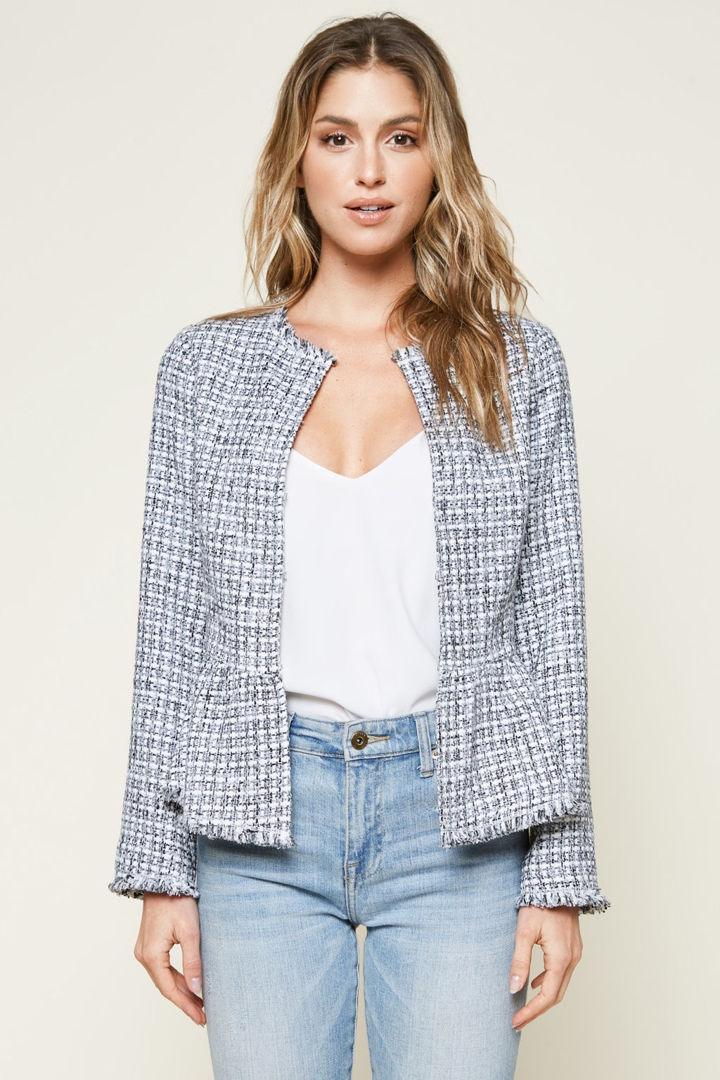 Juniper Tweed Peplum Jacket - NIVE GIRL