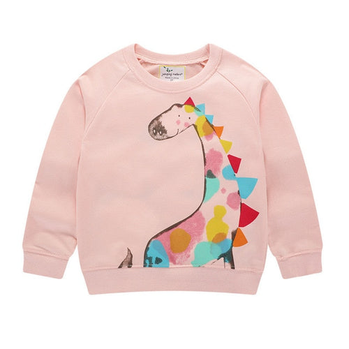 Rainbow Colored Dino Sweatshirt