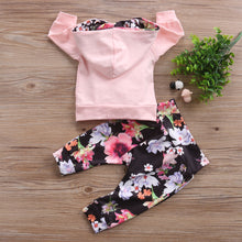 Load image into Gallery viewer, Pink and Bold Floral Hoodie & Pants Set